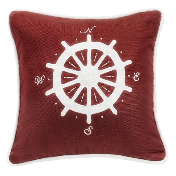 FB3970P6 Monterrey Red Compass Pillow - ThunderHorseCabin.com