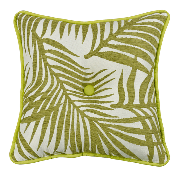 FB4100P1  Capri Fern Tufted Pillow - ThunderHorseCabin.com