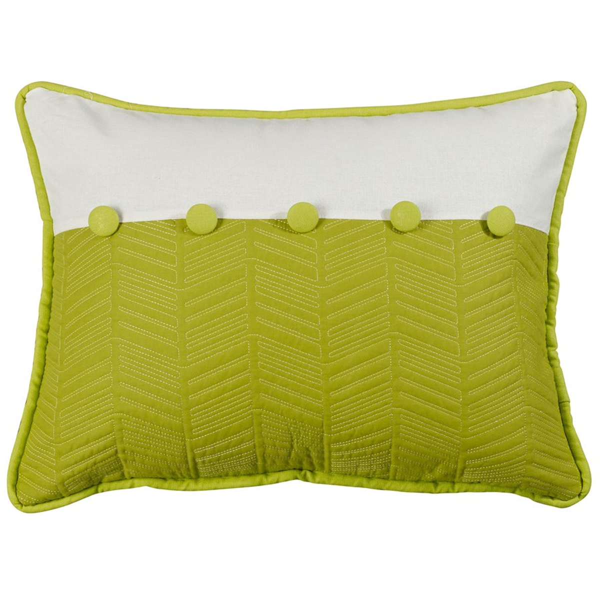 FB4100P2  Capri Fern and Quilted Pillow - ThunderHorseCabin.com