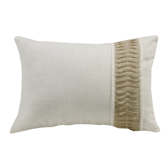 FB5400P1  Newport White Linen Pillow - ThunderHorseCabin.com