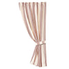 FB6200C Prescott Red Stripe Curtain - ThunderHorseCabin.com
