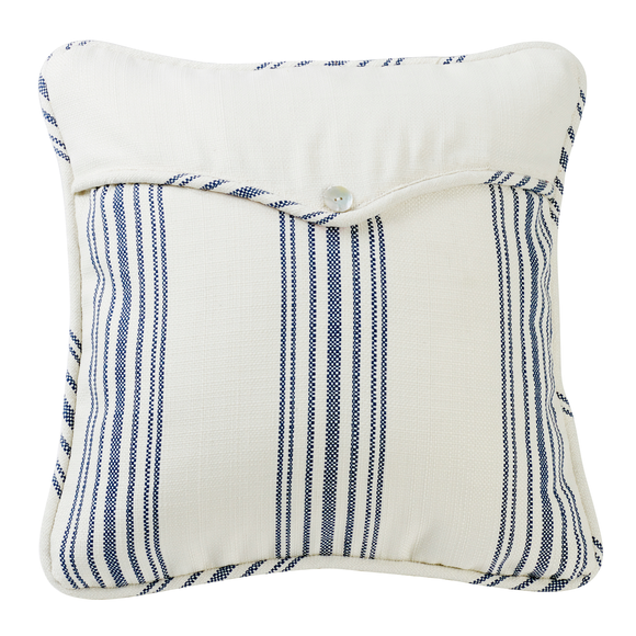 FB6200P2  Navy Linen Weave Envelope Pillow - ThunderHorseCabin.com