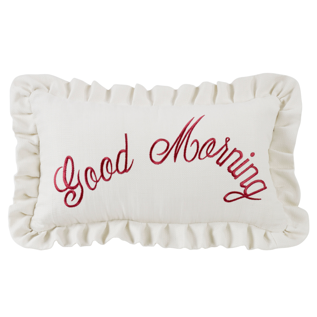 FB6200P6  Bandera Good Morning Embroidery Pillow - ThunderHorseCabin.com