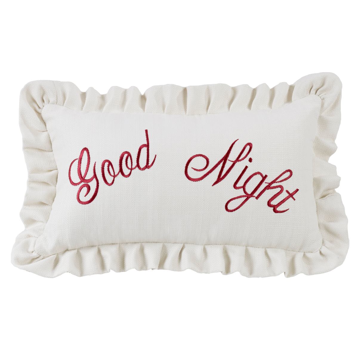 FB6200P7  Bandera Good Night Embroidery Pillow - ThunderHorseCabin.com