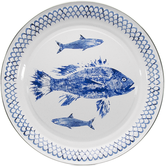 FC01- Fish Camp Pattern -  Large Serving Tray