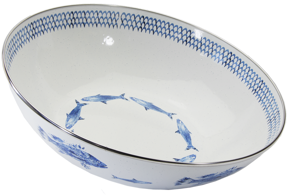 FC18- Fish Camp Pattern -  Catering Bowl
