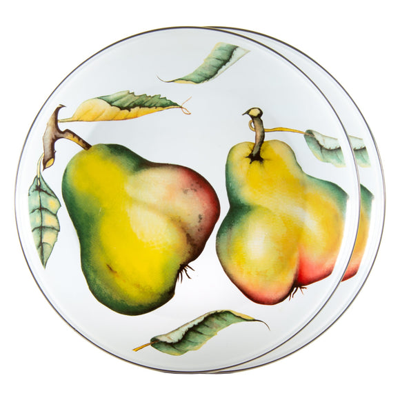 FP36S2 - Set of 2 - Fresh Produce - Enamelware Chargers