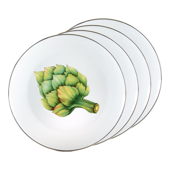 FP56S4 - Set of 4 - Fresh Produce - Enamelware Dinner Plates