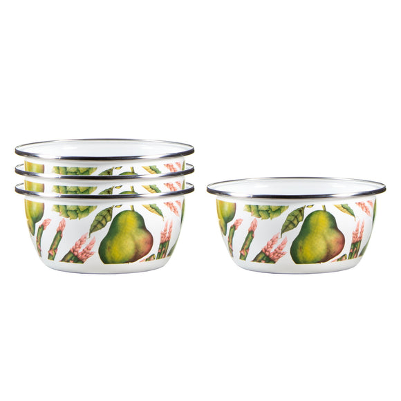 FP61S4 - Set of 4 - Fresh Produce - Enamelware Salad Bowls