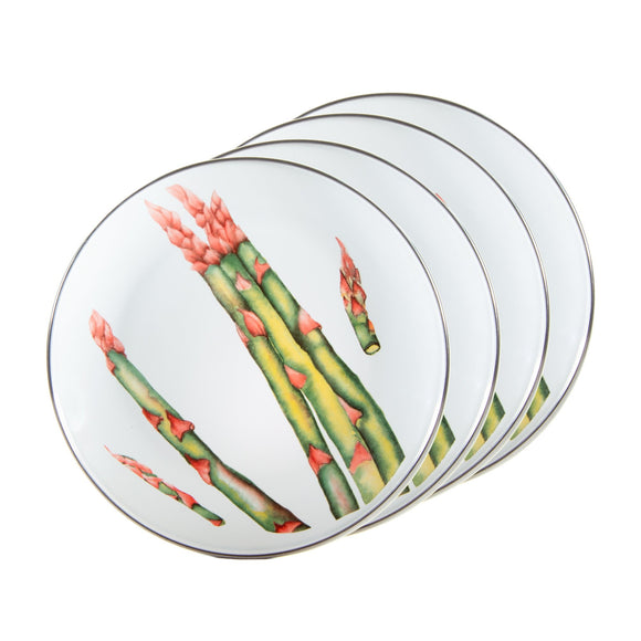 FP69S4 - Set of 4 Fresh - Produce - Enamelware Sandwich Plates