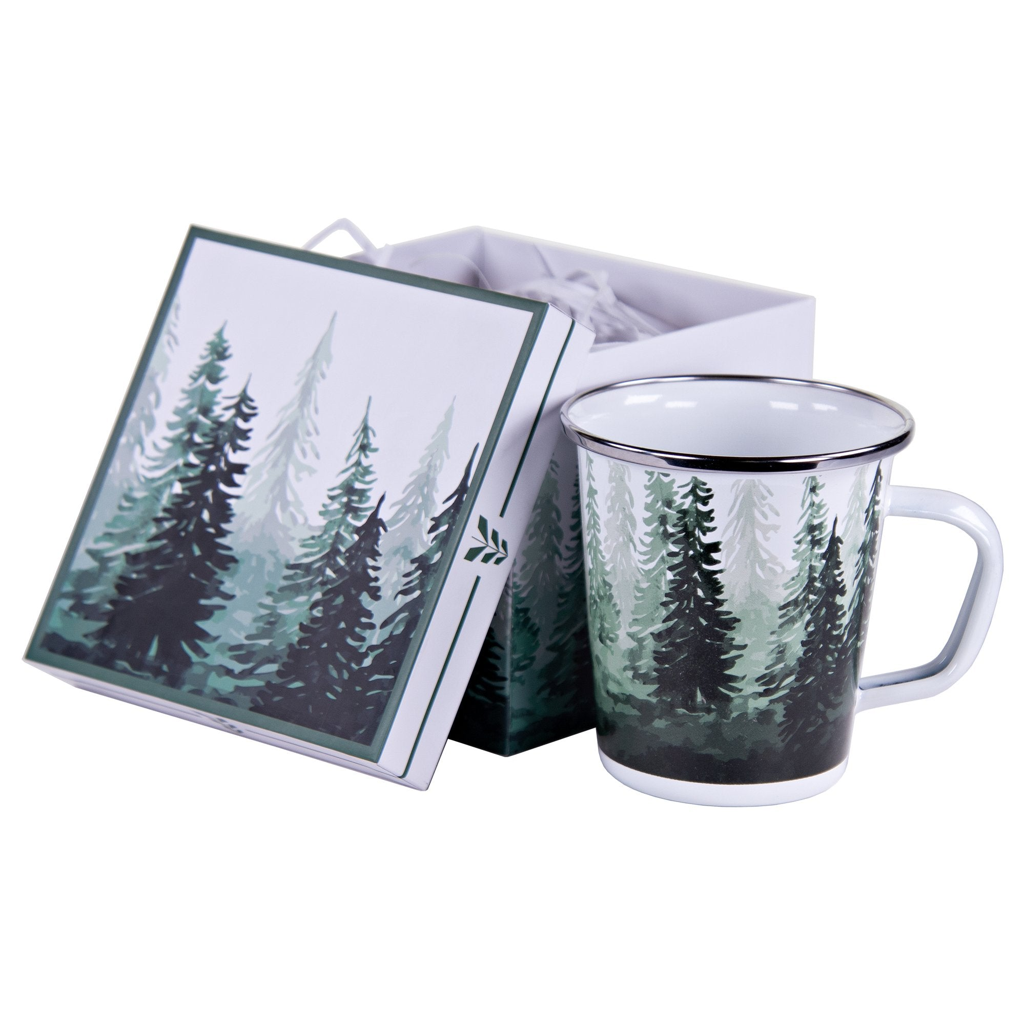 FT86  - Forest Tree Enamelware - Mug Gift Box by Golden Rabbit