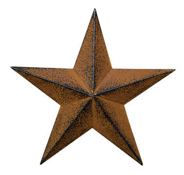 G570712AB - Barn Star - Rust & Black Finish - 12""
