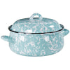 GL31 Sea Glass Swirl Pattern - Dutch Oven