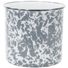 GY34 - Enamelware Grey Swirl Pattern - Utensil Holder by Golden Rabbit