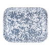 GY98 - Grey Swirl - Enamelware Half Sheet Tray by Golden Rabbit