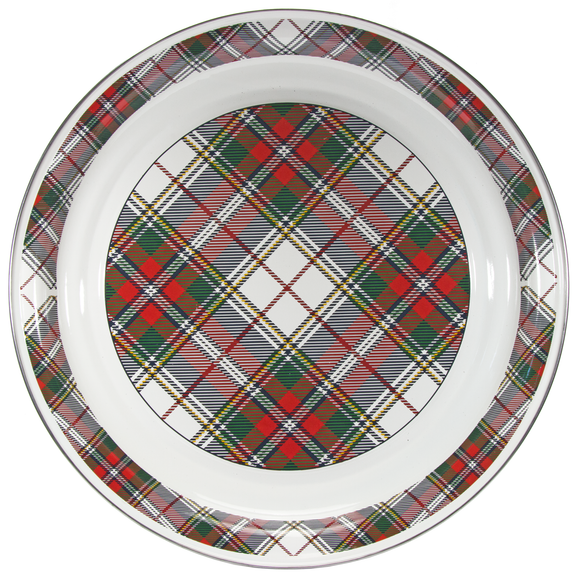 HP01- Highland Plaid Pattern - Large Serving Tray - by Golden Rabbit