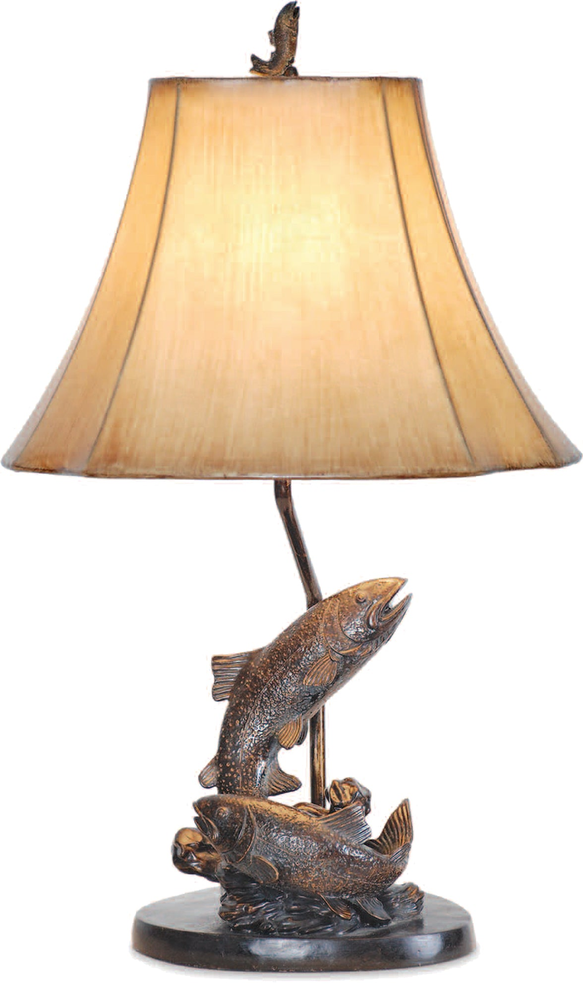 L7077LAZS -  SWIMMING FISH TABLE LAMP by Vintage Direct Lamps