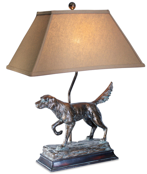 L7082AZGS -  HUNTING DOG TABLE LAMP by Vintage Direct Lamps