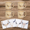 LF1812K1 - Desert Skull Bohemian Mug and Coaster 8 Piece Set by HiEnd Accents