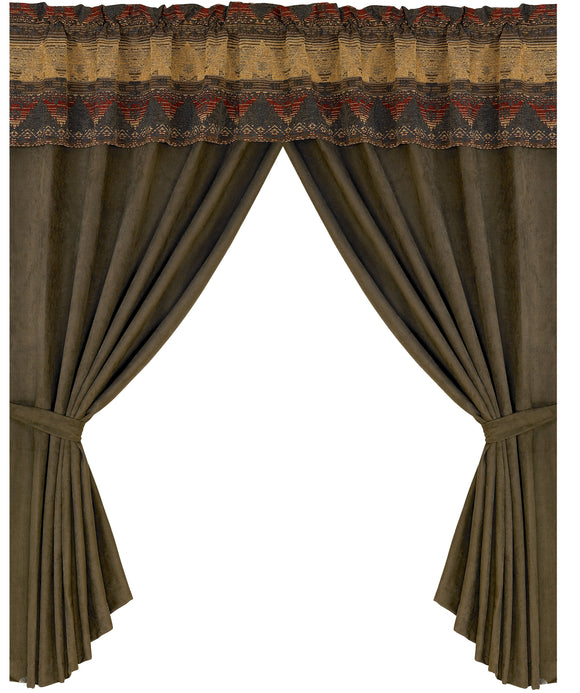 LG1830C - Sierra Chenille Curtain - Western Bedding by HiEnd Accents