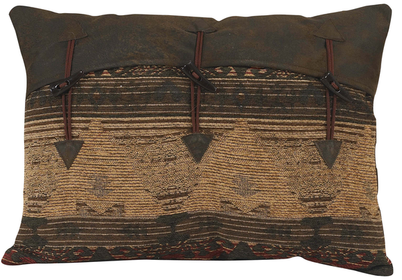 LG1830P1 - Chenille Toggle Oblong Pillow - Western Bedding by HiEnd Accents