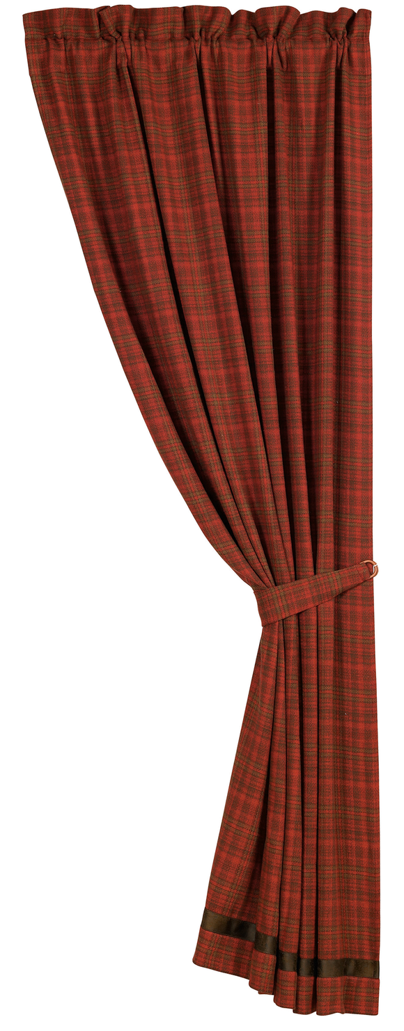 LG1845C - Plaid Curtain - Western Bedding by HiEnd Accents