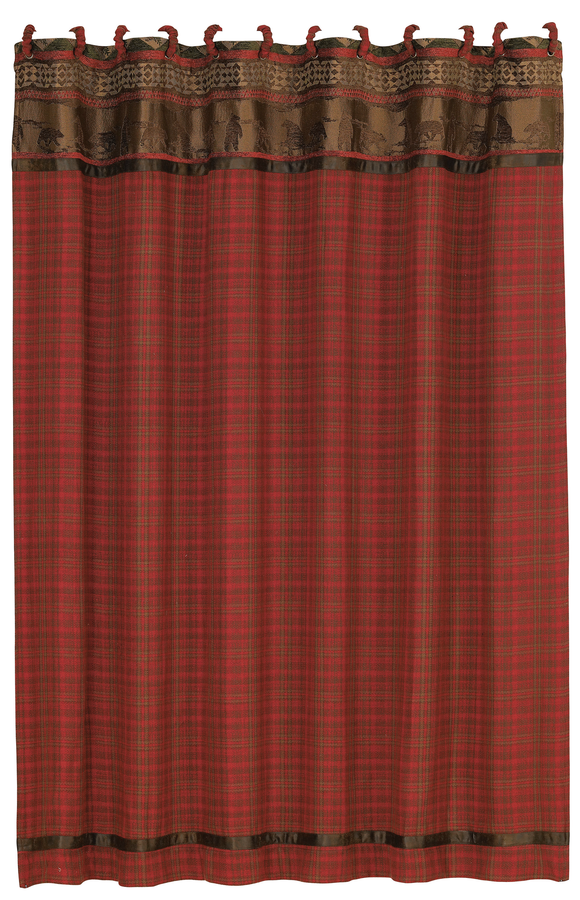 LG1845SC - Plaid Shower Curtain - Western Bedding by HiEnd Accents