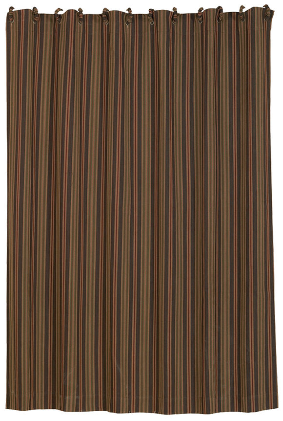 LG1849SC - Striped Shower Curtain- Western Bedding by HiEnd Accents