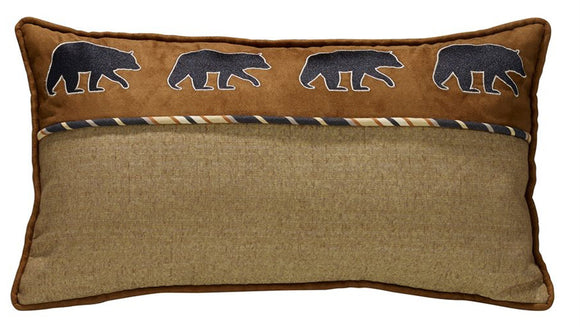 LG1890P5 - Ashbury Pillow - Oblong (Black Bear) by HiEnd Accents