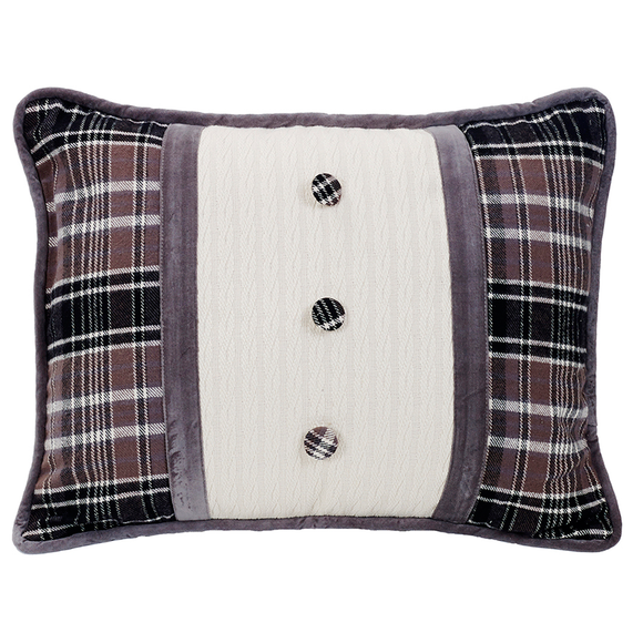 LG1895P4  Whistler Oblong Pillow with Covered Button
