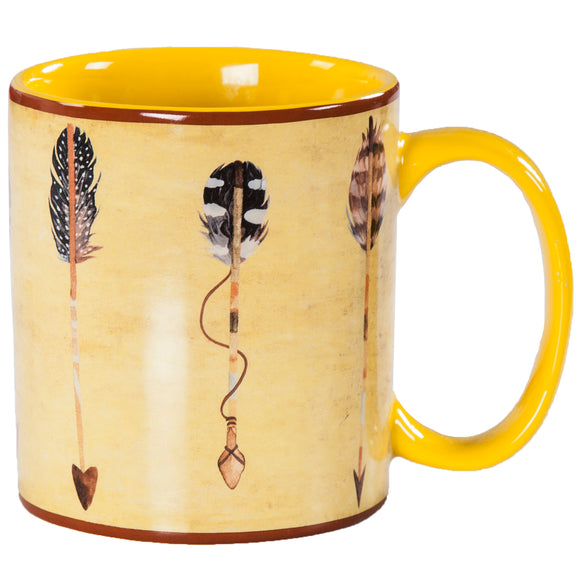 MG1753 - Large arrow design mug - 4 Piece Set by HiEnd Accents