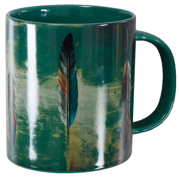 MG1754 - Tossed Feather design mug - 4 Piece Set by HiEnd Accents
