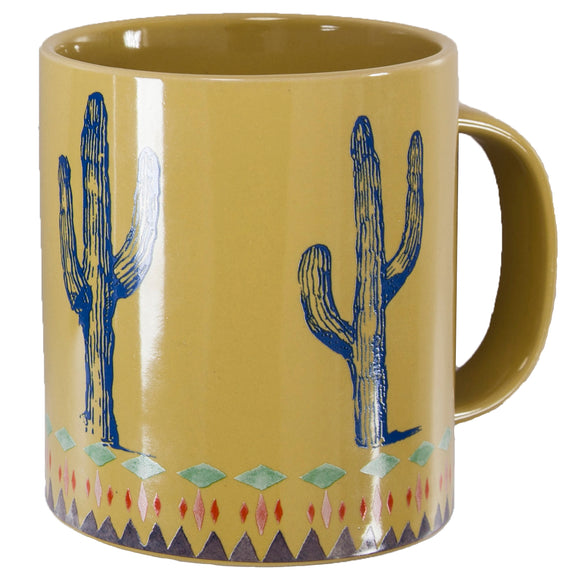 MG1756 - Cactus border design mug - 4 Piece Set by HiEnd Accents