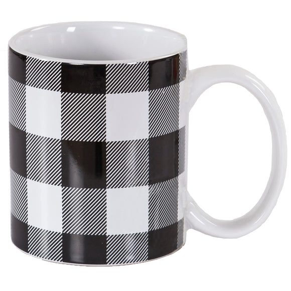 MG1777 - Buffalo Check design mug - 4 Piece Set by HiEnd Accents