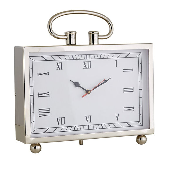 MR712 - Set of 2 - Large Desk Clock - Nickel
