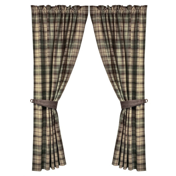 "NL1731C - Plaid Curtain (PAIR)- 60""x84""   by HiEnd Accents"