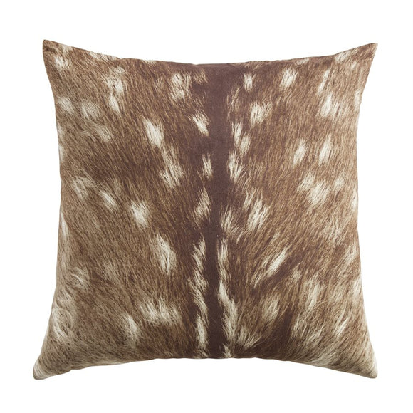 "NL1731P1 - Suede Fawn Pillow - 18""x 18""  by HiEnd Accents"
