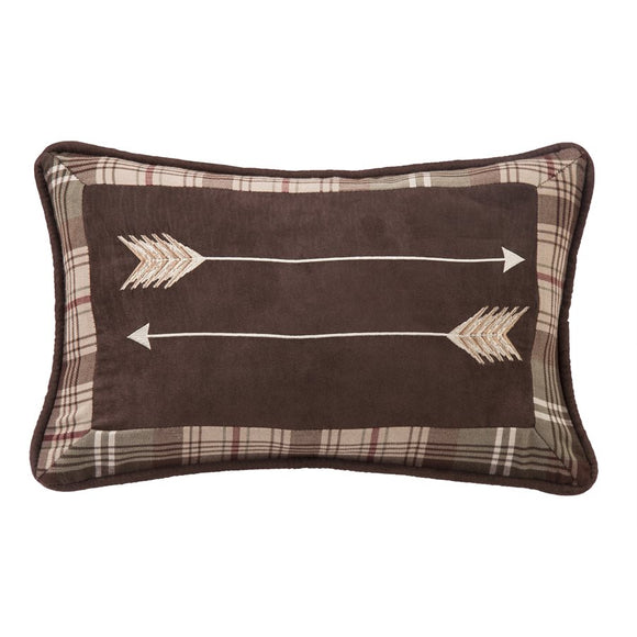 "NL1731P3 - Embroidered Arrow Oblong Pillow - 12""x19""   by HiEnd Accents"