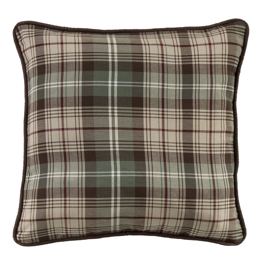 "NL1731P4 - Plaid Pillow - 22""x22""   by HiEnd Accents"