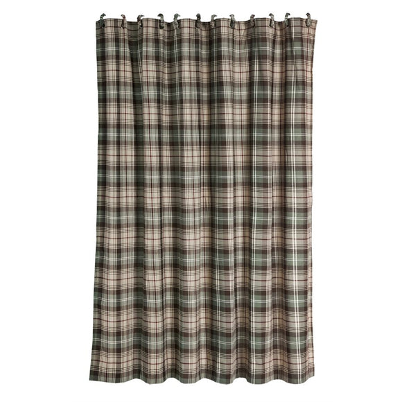 "NL1731SC - Plaid Shower Curtain - 72""x72""    by HiEnd Accents"