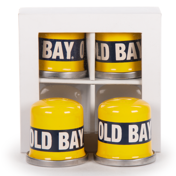 OB37 - Old Bay Pattern - Salt and Pepper Shakers Set of 2 Pair