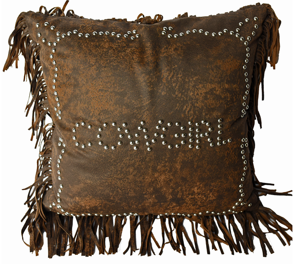PL3122 - Cowgirl Studded Pillow - Western Bedding by HiEnd Accents