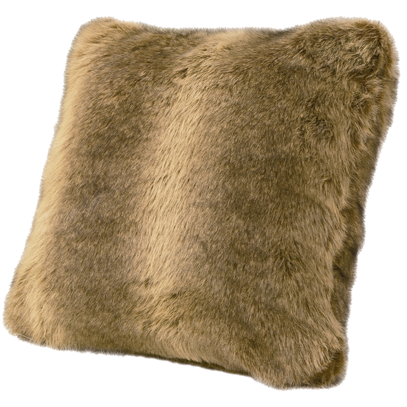 PL4001 - Faux Wolf Fur Pillow - Western Bedding by HiEnd Accents