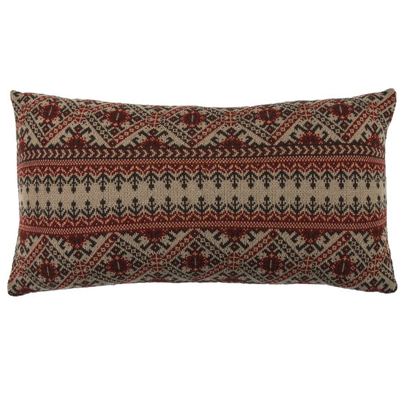 "PL5002 - Fair Isle Body Pillow- 21""x 35"