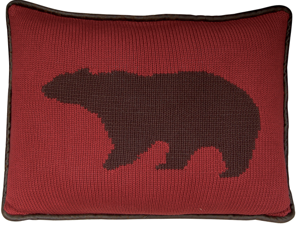 PL5002-OS-BE - Bear Knit Oblong Pillow - Western Bedding by HiEnd Accents