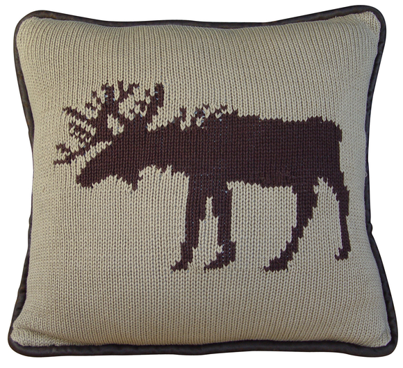 PL5002-OS-MO - Moose Knit Oblong Pillow - Western Bedding by HiEnd Accents