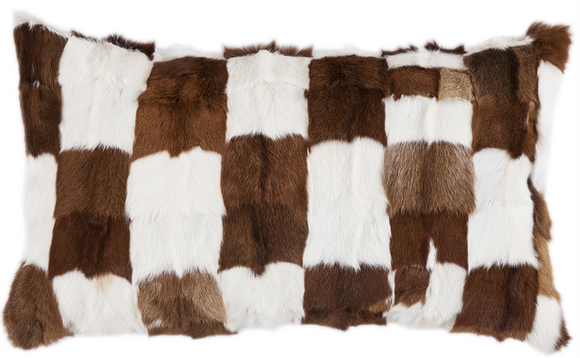 PL5009 - Patchwork Fur Pillow - Western Bedding by HiEnd Accents