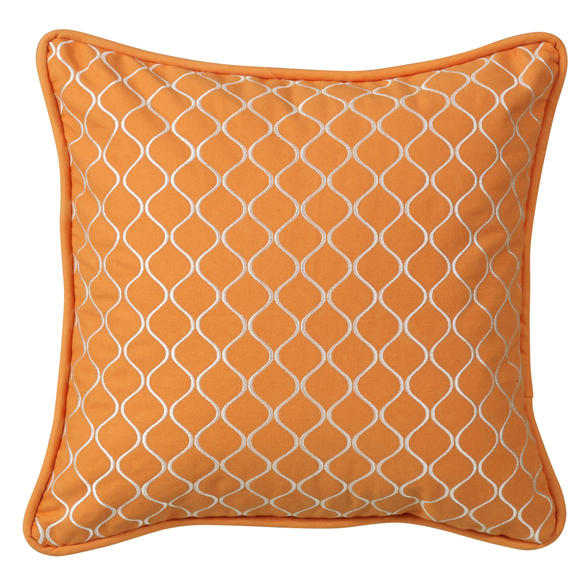PL6118  Orange Geometric Pillow