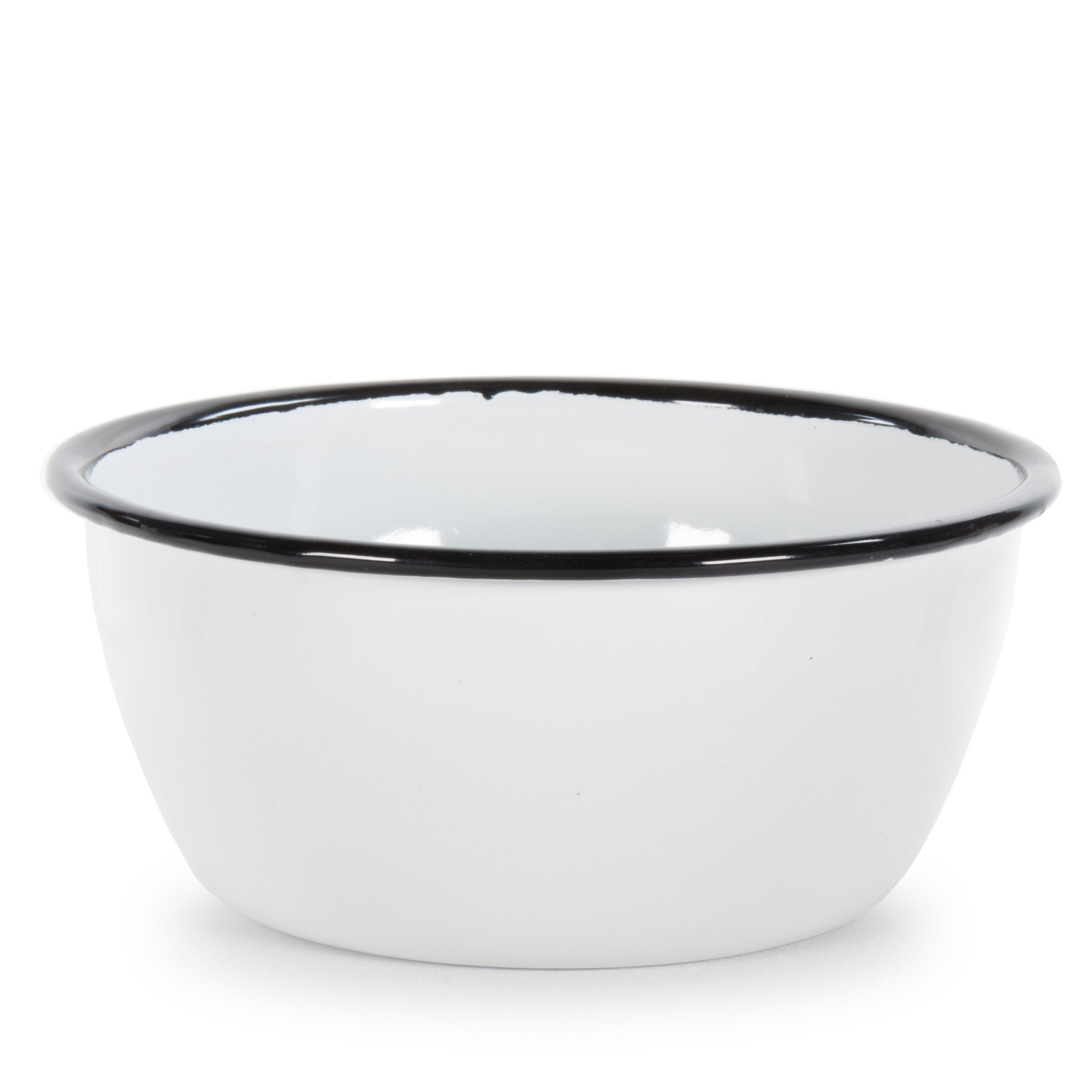 RBW93 - Glampware  Bowls - White with Black Trim  - Set of 4