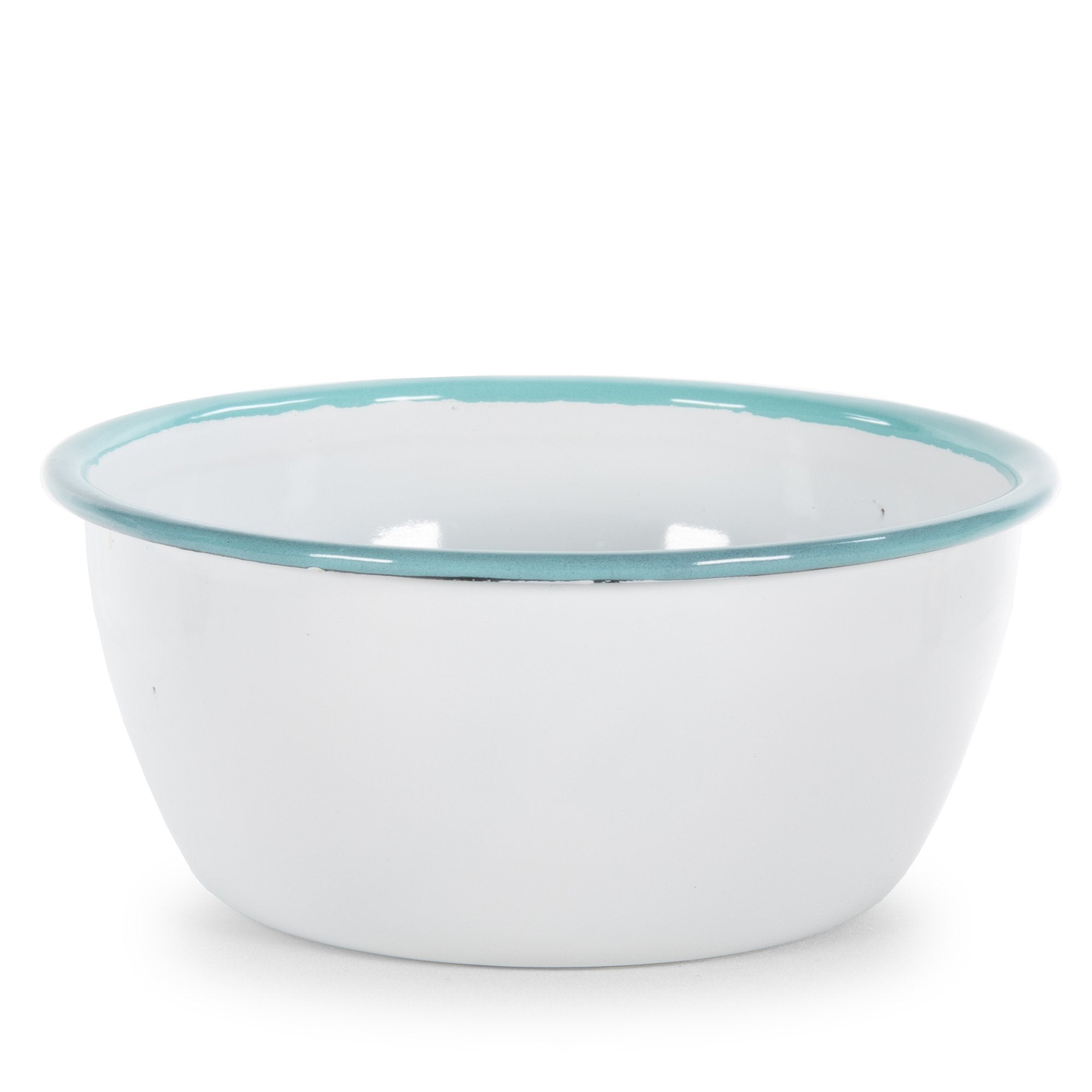 RGW93 - Glampware Bowls - White with Sea Glass Trim - Set of 4